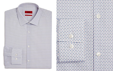 HUGO Square-Dash Slim Fit Dress Shirt - Bloomingdale's_2