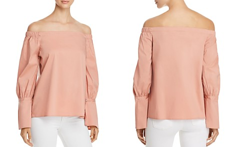 B Collection by Bobeau Coye Poplin Off-the-Shoulder Top - Bloomingdale's_2