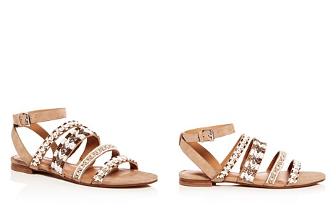 Rebecca Minkoff Women's Leila Beaded Suede Ankle Strap Sandals - Bloomingdale's_2