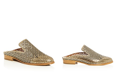 Robert Clergerie Women's Asier Perforated Patent Leather Mules - Bloomingdale's_2