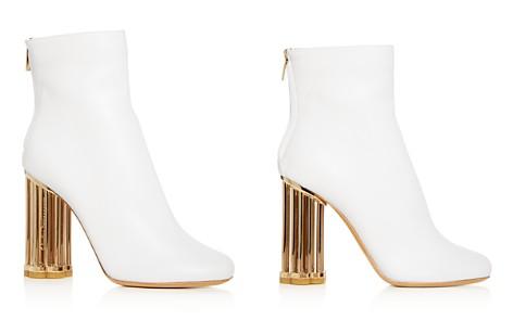 Salvatore Ferragamo Women's Coriano Leather Floral Heel Booties - Bloomingdale's_2