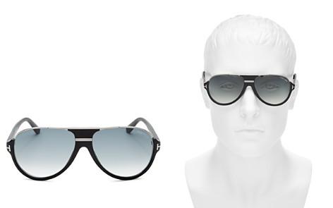 Tom Ford Dimitry Flat Top Aviator Sunglasses, 61mm - Bloomingdale's_2