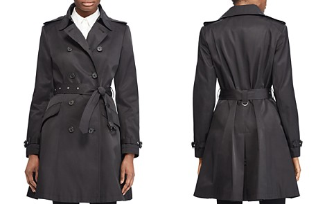 Lauren Ralph Lauren Split Needle Skirted Trench Coat - Bloomingdale's_2