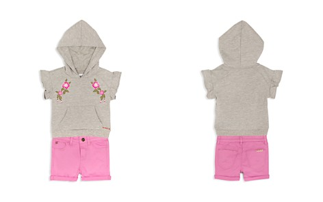 Hudson Girls' Embroidered French Terry Hoodie & Stretch Shorts Set - Baby - Bloomingdale's_2