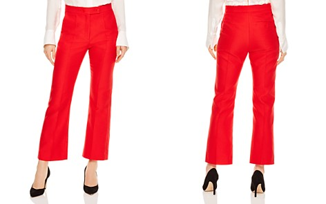 Sandro Houria Cropped Flared Pants - Bloomingdale's_2