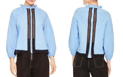 Sandro Doval Lace-Inset Top - Bloomingdale's_2