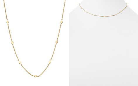 "Zoë Chicco 14K Yellow Gold Itty Bitty Diamond-Shape Choker Charm Necklace, 14"" - Bloomingdale's_2"