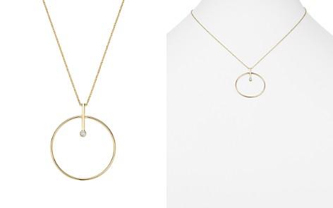 "Zoë Chicco 14K Yellow Gold Diamond Bar & Circle Pendant Necklace, 18"" - Bloomingdale's_2"