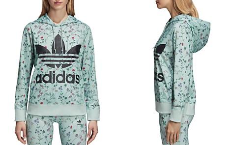 adidas Originals Floral Print Logo Hooded Sweatshirt - Bloomingdale's_2