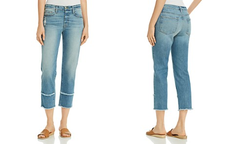 FRAME Le Nouveau Straight Frayed Cuff Jeans in Jonesboro - Bloomingdale's_2