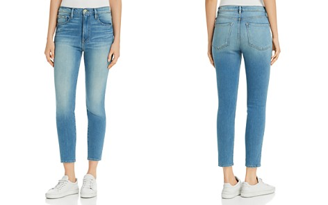 FRAME Ali High-Rise Cigarette Jeans in Opus - Bloomingdale's_2