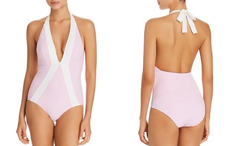 Flagpole Jade Halter One Piece Swimsuit - Bloomingdale's_2