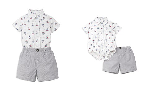 Little Me Boys' Sailboat Bodysuit & Striped Shorts Set - Baby - Bloomingdale's_2