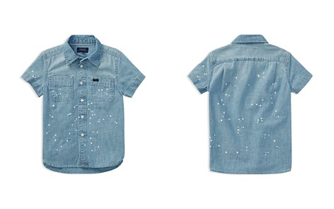 Polo Ralph Lauren Boys' Paint-Splattered Chambray Shirt - Little Kid - Bloomingdale's_2