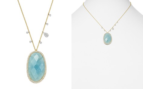 "Meira T 14K White & Yellow Gold Milky Aquamarine & Diamond Pendant Necklace, 16"" - Bloomingdale's_2"
