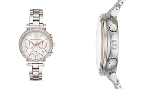 Michael Kors Silver-Tone Sofie Chronograph, 39mm - Bloomingdale's_2