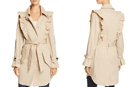 Joie Gila Ruffled Trench Coat - Bloomingdale's_2