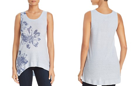 Donna Karan Floral High-Low Linen Tank - Bloomingdale's_2