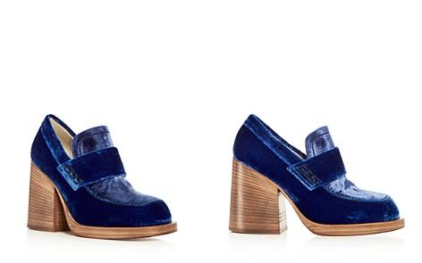 Marni Women's Mocassino Velvet Block Heel Loafers - Bloomingdale's_2