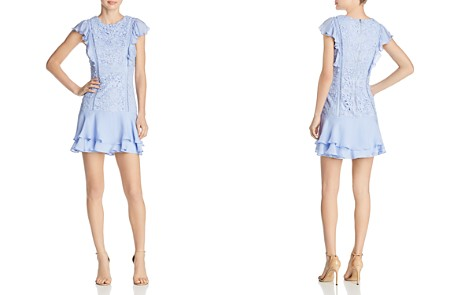 Parker Bennett Ruffle-Trimmed Lace Dress - Bloomingdale's_2