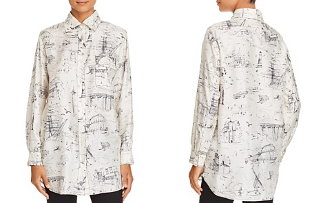 Burberry Chava Silk Button-Down Top - Bloomingdale's_2