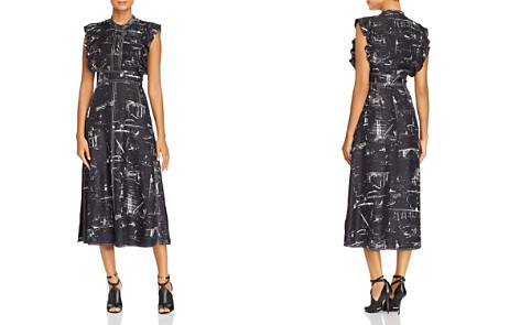 Burberry Parker Silk Midi Dress - Bloomingdale's_2