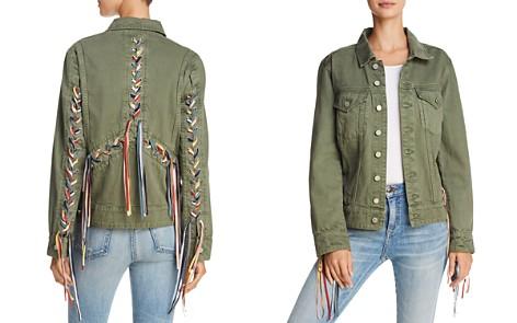 BLANKNYC Rainbow Lace-Up Denim Jacket - Bloomingdale's_2