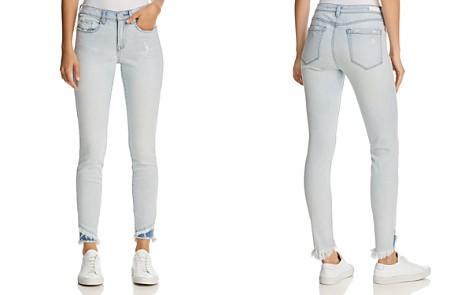 BLANKNYC Splatter Frayed Skinny Jeans in Blue - 100% Exclusive - Bloomingdale's_2