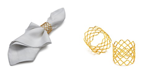 Aman Imports Netted Brass Napkin Ring - 100% Exclusive - Bloomingdale's_2