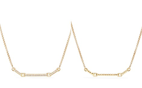 David Yurman Petite Pavé Station Necklace with Diamonds in 18K Gold	- Bloomingdale's_2