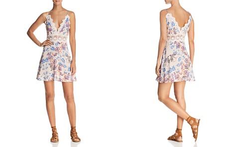 En Créme Lace-Inset Floral-Print Mini Dress - 100% Exclusive - Bloomingdale's_2