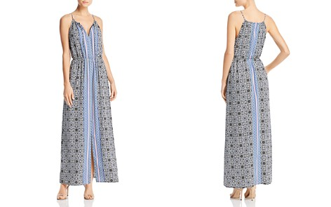 AQUA Medallion Print Maxi Dress - 100% Exclusive - Bloomingdale's_2