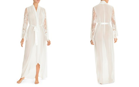 Jonquil Chiffon & Lace Long Robe - Bloomingdale's_2