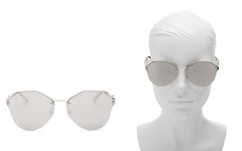 Prada Mirrored Rimless Round Sunglasses, 66mm - Bloomingdale's_2