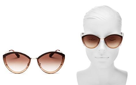 Prada Women's Oversized Rimless Cat Eye Sunglasses, 62mm - Bloomingdale's_2