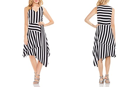 VINCE CAMUTO Spectator Stripe Asymmetric Dress - Bloomingdale's_2