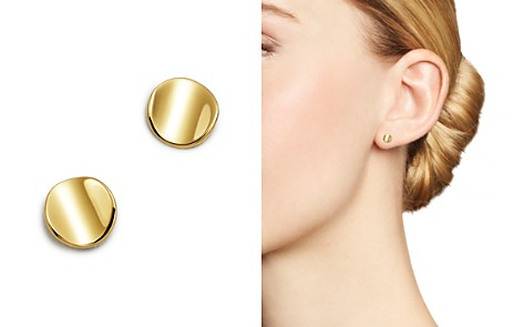 Moon & Meadow Curved Circle Stud Earrings in 14K Yellow Gold - 100% Exclusive - Bloomingdale's_2