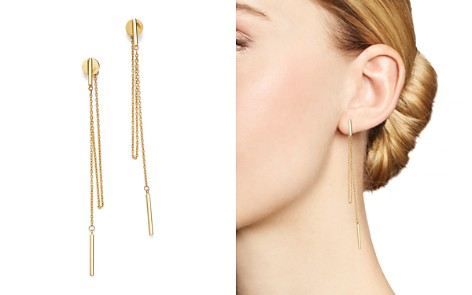 Moon & Meadow Bar & Chain Drop Earrings in 14K Yellow Gold - 100% Exclusive - Bloomingdale's_2