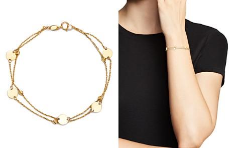 Moon & Meadow Layered Disc & Bead Bracelet in 14K Yellow Gold - 100% Exclusive - Bloomingdale's_2