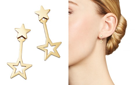 Moon & Meadow Star Ear Jackets in 14K Yellow Gold - 100% Exclusive - Bloomingdale's_2