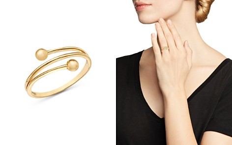 Moon & Meadow Beaded Band Ring in 14K Yellow Gold - 100% Exclusive - Bloomingdale's_2