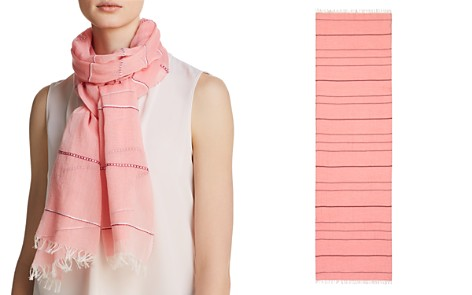 AQUA Embroidered Striped Oblong Scarf - 100% Exclusive - Bloomingdale's_2