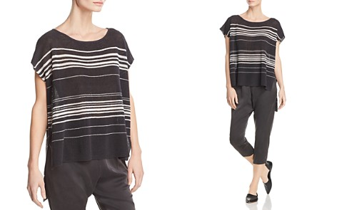 Eileen Fisher Striped Poncho-Style Top - Bloomingdale's_2