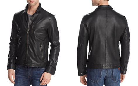 John Varvatos Collection Slim Fit Leather Jacket - Bloomingdale's_2
