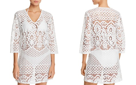 J. Valdi Embroidered Floral Tunic Swim Cover-Up - Bloomingdale's_2