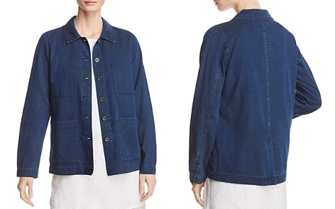 Eileen Fisher Classic Chambray Jacket - Bloomingdale's_2