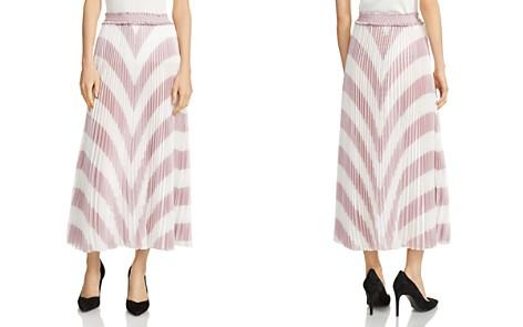 Maje Joro Pleated Striped Skirt - Bloomingdale's_2