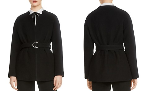 Maje Gato Belted Jacket - Bloomingdale's_2