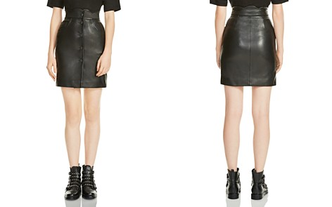 Maje Journey Leather Skirt - Bloomingdale's_2