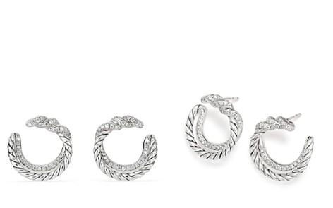 David Yurman Continuance Hoop Earrings with Diamonds - Bloomingdale's_2